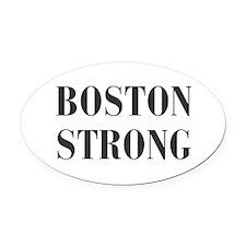 boston-strong-bod-dark-gray Oval Car Magnet
