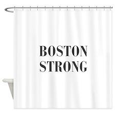 boston-strong-bod-dark-gray Shower Curtain