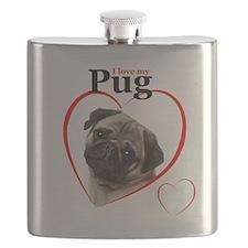 Pug Love Flask