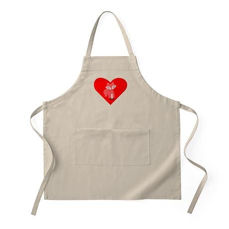 Red Fox Heart Apron