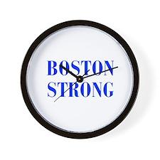 boston-strong-bod-blue Wall Clock