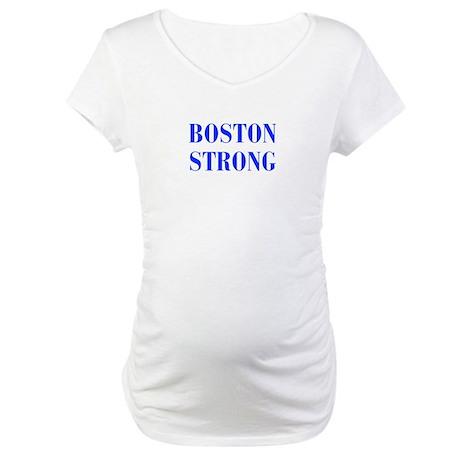 boston-strong-bod-blue Maternity T-Shirt