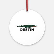 Destin Florida - Alligator Design. Ornament (Round