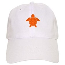 Orange Sea Turtle Baseball Cap