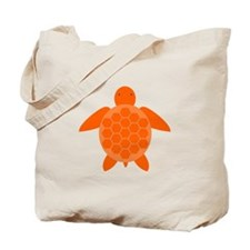 Orange Sea Turtle Tote Bag