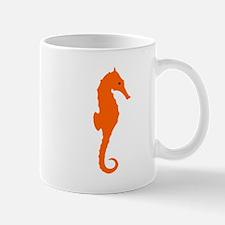 Orange Seahorse Small Mug