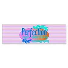 Cocky Perfection Pink Bumper Sticker