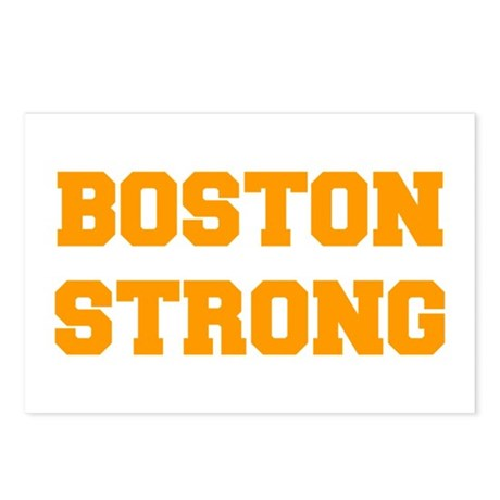 boston-strong-fresh-orange Postcards (Package of 8