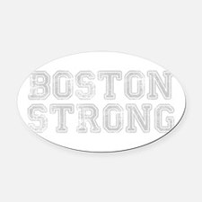 boston-strong-coll-light-gray Oval Car Magnet