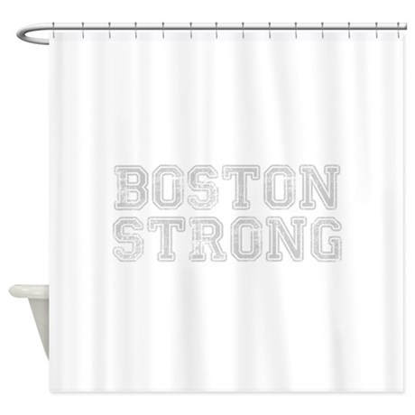 Boston Strong Coll Light Gray Shower Curtain By Quotes21