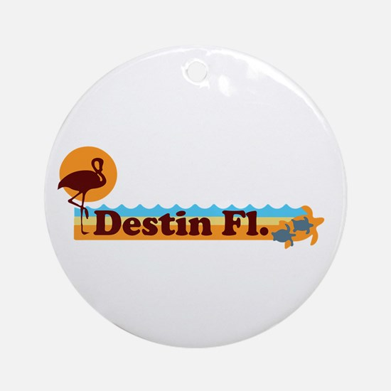 Desting Florida - Beach Design. Ornament (Round)