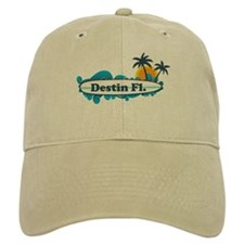 Destin Florida - Surf Design. Baseball Cap