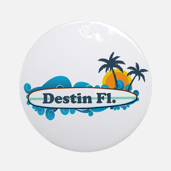 Destin Florida - Surf Design. Ornament (Round)