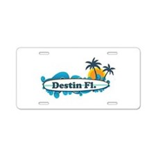 Destin Florida - Surf Design. Aluminum License Pla