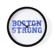 boston-strong-coll-blue Wall Clock