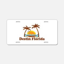 Destin Florida - Palm Tees Design. Aluminum Licens