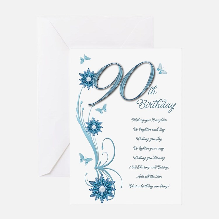 90Th Birthday 90th Birthday Greeting Cards | Card Ideas, Sayings, Designs & Templates