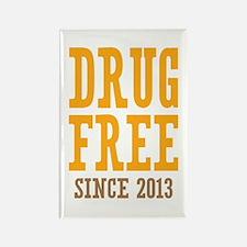 Drug Free Since 2013 Rectangle Magnet