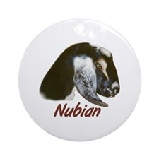 Goat-Nubian-Crystal Ornament (Round)
