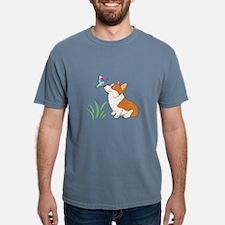 Funny Corgi Mens Comfort Colors Shirt