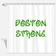 boston-strong-st-green Shower Curtain