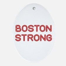 boston-strong-so-dark-red Ornament (Oval)