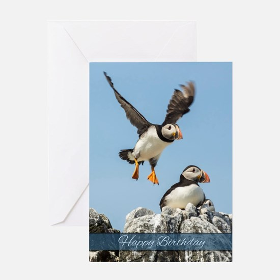 Puffin Birthday Greeting Card
