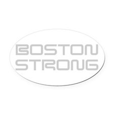 boston-strong-saved-light-gray Oval Car Magnet