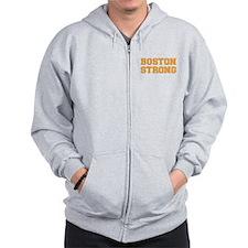 boston-strong-var-orange Zip Hoodie