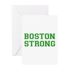 boston-strong-var-green Greeting Card