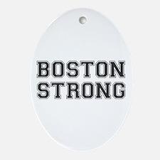 boston-strong-var-dark-gray Ornament (Oval)