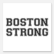 "boston-strong-var-dark-gray Square Car Magnet 3"" x"