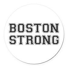 boston-strong-var-dark-gray Round Car Magnet