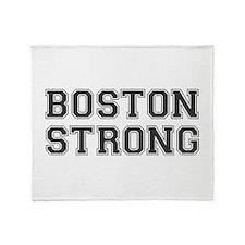 boston-strong-var-dark-gray Throw Blanket