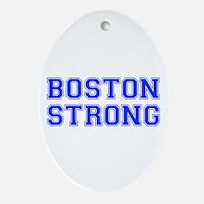 boston-strong-var-blue Ornament (Oval)