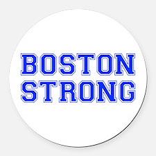 boston-strong-var-blue Round Car Magnet