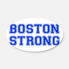 boston-strong-var-blue Oval Car Magnet