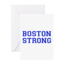 boston-strong-var-blue Greeting Card
