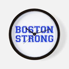 boston-strong-var-blue Wall Clock