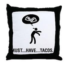 Tacos Fanatic Throw Pillow