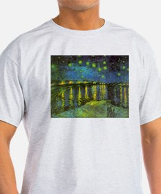 Starry Night Over The Rhone by Vindent van Gogh T-
