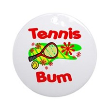 Tennis Bum Ornament (Round)