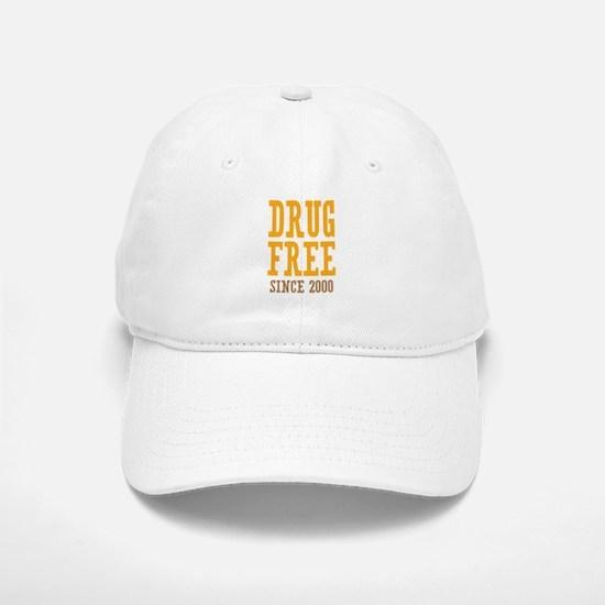 Drug Free Since 2000 Baseball Baseball Cap