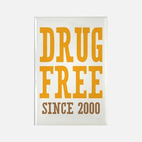 Drug Free Since 2000 Rectangle Magnet