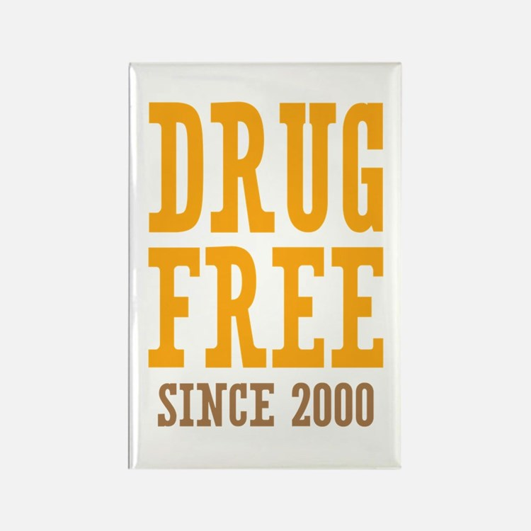 Drug Free Since 2000 Rectangle Magnet