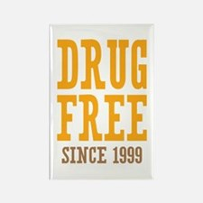 Drug Free Since 1999 Rectangle Magnet