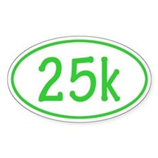 Lime 25k Oval Decal