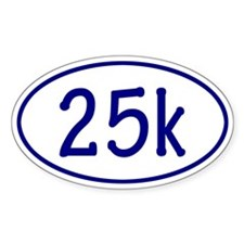 Blue 25k Oval Decal