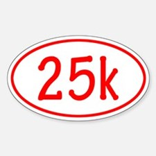 Red 25k Oval Decal