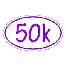 Purple 50k Oval Decal